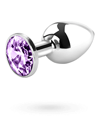 Metall-Analplug mit Kristall, 7,5cm