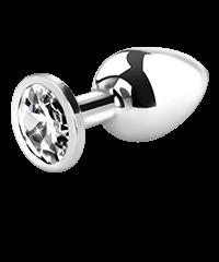 Metall-Analplug mit Kristall, 8cm