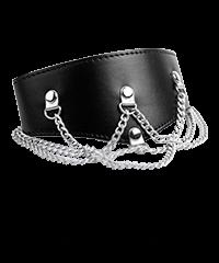 Breites Halsband mit Ketten-Details