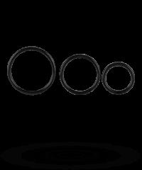 Penisringe aus Silikon, 3Stk., 3,5‑5cm