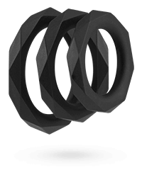 'Facet Cockrings', 3Stk., 2,74,7cm
