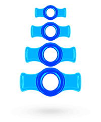 'Cock Ring Set', 4teilig, 1-5cm
