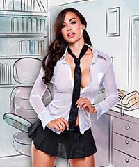 Sekretärin-Kostüm, 3‑teilig