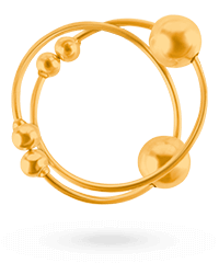 'Gold Nipple Bull Rings', 1Paar