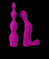 '2X anal attachment set', 2teilig