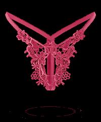 String mit Schmetterlings-Stickerei