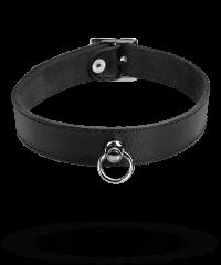 Schmales Leder-Halsband mit O-Ring