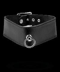 Breites Leder-Halsband mit O-Ring