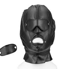 Leder-Maske mit abnehmbaren Partien