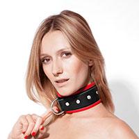 Breites Halsband aus Leder