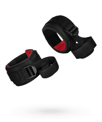 'Buckled Hand restraints'