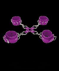 Leder Kreuz-Fessel-Set, 5teilig