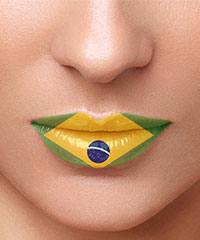 Lippentattoo 'Brasilien'