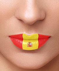 Lippentattoo 'Spanien'