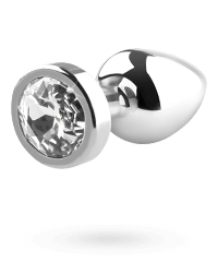 'Jewel Buttplug', silber, 8cm