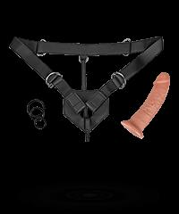 'Strap-On Harness', 23 cm, 7-teilig