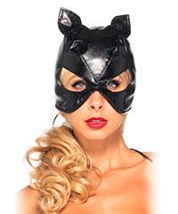Katzen-Maske in Leder-Design