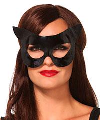 Glänzende Katzen-Maske mit Ohren
