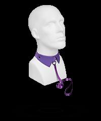 Eleganter Kragen mit fester Satin-Leine