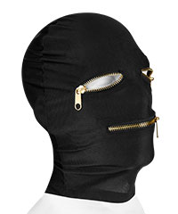 'Extreme Zipper Mask with Eye & Mouth Zippers'