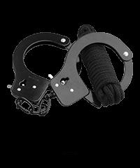 'Cuffs & Love Rope', 2teilig