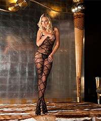 Sexy Bodystocking im Karo-Look