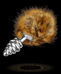 'Extra Feel Bunny Tail', silber, 14,5cm