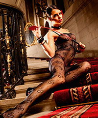 Ouvert-Bodystocking aus Spitze