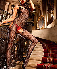 Bodystocking ouvert mit Cut Outs