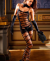 Bodystocking mit transparenter Front