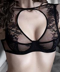 Extravaganter Bügel-BH 'Couture'