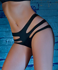 High Waist-Panty mit Cut-Outs