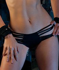 Riemchen-Panty mit Ring-Detail
