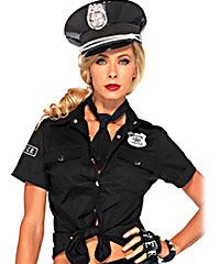 Sexy Polizeihemd und Krawatte, 2teilig