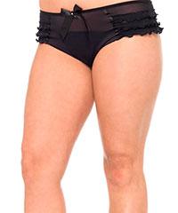 Transparente Panty mit Raffungen