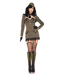 Pin-Up Army-Kostüm, 5teilig