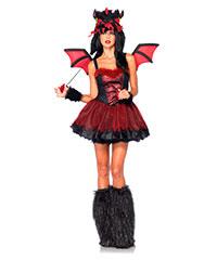 Drachen-Kostüm mit Flügeln, 4‑teilig