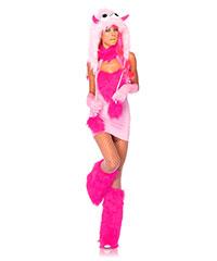 Süßes Monster-Kostüm mit Fell, 2‑teilig