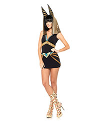 Ägyptische Göttin-Kostüm, 2‑teilig