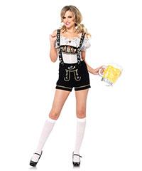 Oktoberfest-Hosen mit Stickerei, 2‑teilig