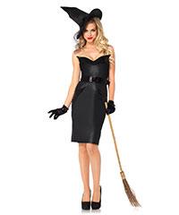 Klassisches Hexen-Kostüm, 4‑teilig
