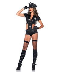 Sexy Polizei-Body mit Hut, 2‑teilig