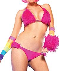Süßer Furry-Bikini, 2-teilig