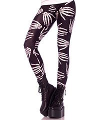 Skeletthand-Leggings