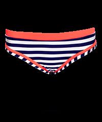 Maritimer Bikini-Slip mit Streifen