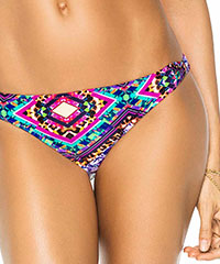 Gemusterter Bikini-Slip im Retro-Design