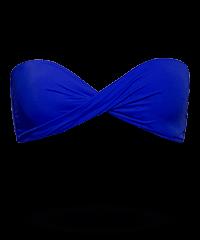 Bandeau Bikini-Top mit Drapierung