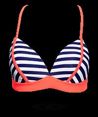 Reizvolles Bikini-Top mit Streifen