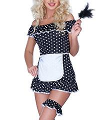 Sexy Zimmermädchen-Kostüm, 4-tlg.